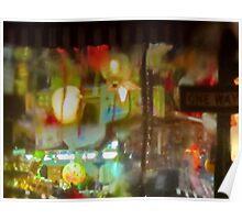 ChinaTown windshield art in the rain Poster
