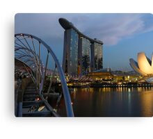 Sunset at MBS Canvas Print