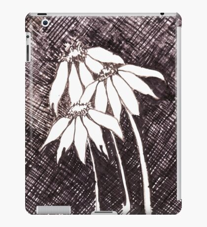 Daisies Black ink sketch iPad Case/Skin