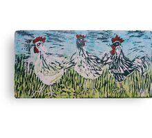 Bridget's Poultry 3 Canvas Print