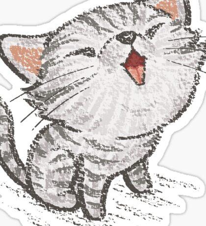 Kitten in a good mood Sticker