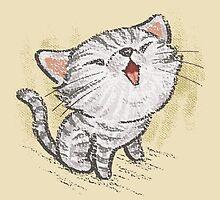 Kitten in a good mood by Toru Sanogawa