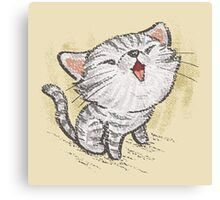 Kitten in a good mood Canvas Print