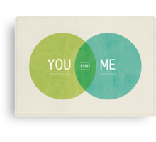 You and Me Canvas Print