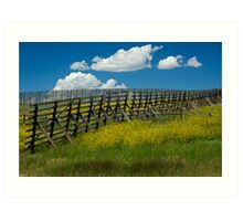 Snow Fence - Wyoming Art Print