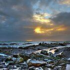 Storm approaching, Melkbosstrand Beach, West Coast, South Africa by John  Paper
