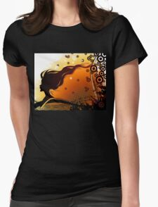 Silhouette of woman Womens Fitted T-Shirt