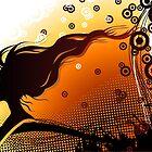 Silhouette of woman by -ashetana-