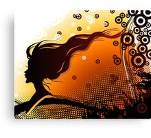 Silhouette of woman Canvas Print