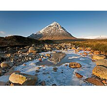 Buachaille Etive Mor winter reflections Photographic Print