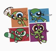 Power POP Turtles Kids Tee