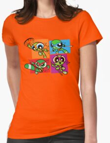 Power POP Turtles Womens Fitted T-Shirt