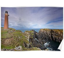 Lighthouse at the Butt of Lewis, Isle of Lewis, Scotland Poster