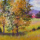 Spring trees by Julia Lesnichy