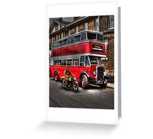 RV 6358-English Electric bodied Leyland Titan Greeting Card