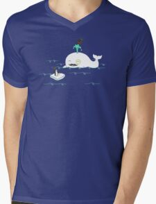 A Whale Of A Gentleman Mens V-Neck T-Shirt