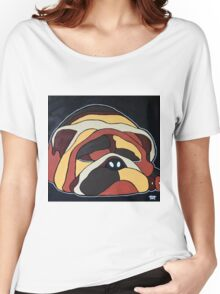 Abstract sleeping dog design Women's Relaxed Fit T-Shirt