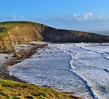 Dunraven Bay, The All Wales Coast  Path by Paula J James