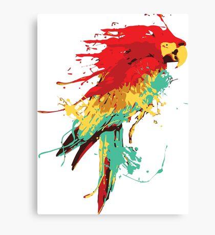 Splash The Parrot Canvas Print