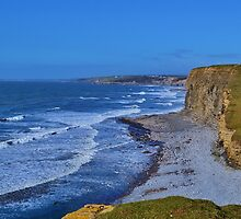 Monknash Beach, All Wales Coastal Path by Paula J James