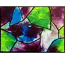 Abstract stained glass Photographic Print