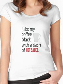Coffee with a Dash of Hot Sauce Women's Fitted Scoop T-Shirt