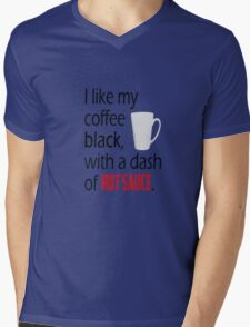 Coffee with a Dash of Hot Sauce Mens V-Neck T-Shirt