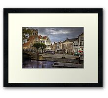 Holland.. Goedereede close to the City of Den Briel  Framed Print