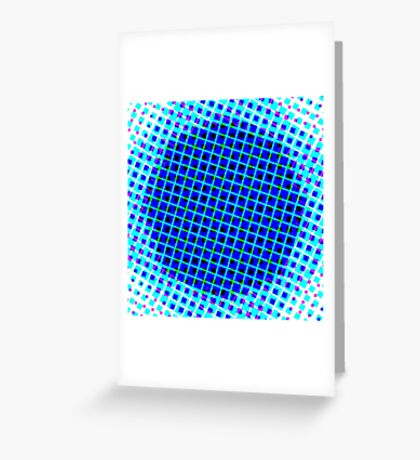 Blue Power Greeting Card