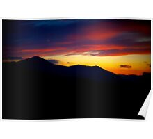 Sunset On Skiddaw- Lake District National Park © Poster