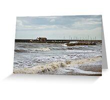 Unsettled Seas ~ Lyme Regis Greeting Card