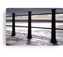 Silhouette at Tramore Canvas Print