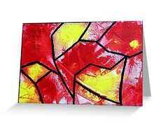 Abstract stained glass 2 Greeting Card