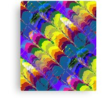 Retro-Psychedelic Rainbows Canvas Print
