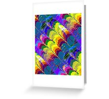 Retro-Psychedelic Rainbows Greeting Card