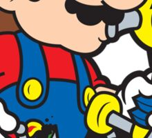 Super Stoned Mario Sticker