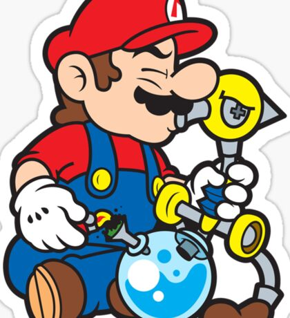Super Stoned Mario Sticker