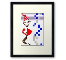 A woman in Evil's mind Framed Print