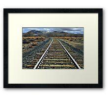 Hear that train a commin? Framed Print