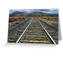 Hear that train a commin? Greeting Card