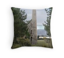 Cornish tin mine Throw Pillow