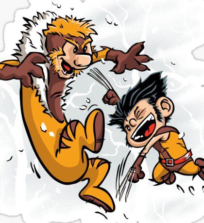 Logan and Victor Sticker