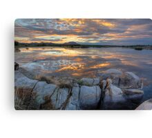 Sundown Willow Lake Canvas Print