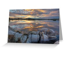 Sundown Willow Lake Greeting Card