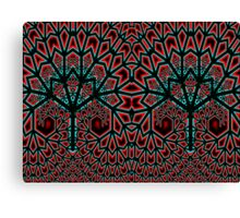 Red Plume Fractal Trees  Canvas Print