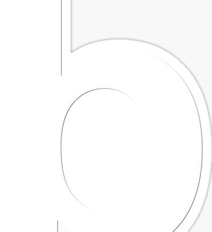 white b Sticker
