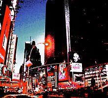 Times Square - digital art by Magdalena Warmuz-Dent