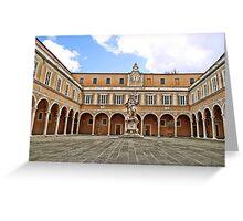 Binnenplaats Pisa . Greeting Card