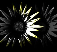 Abstract Flower, Yellow 4/5 by Mark Battista