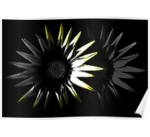 Abstract Flower, Yellow 4/5 Poster